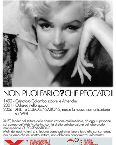 Campagna pubblicitaria Xnet - Marylin