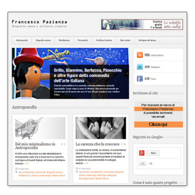 Progetto di Brand development - Francescopazienza.it